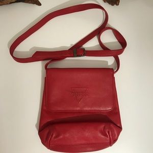 Guess Vintage Leather Crossbody Flap